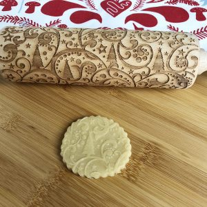 Christmas Swirl Patterned Rolling Pin